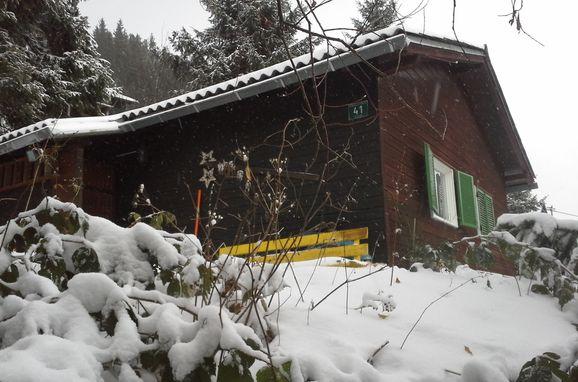 Winter, Bärbels Panoramahütte in Vordernberg, Steiermark, Styria , Austria
