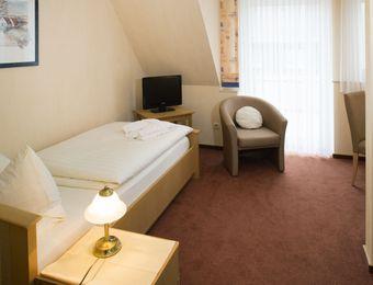 Einzelzimmer mit Balkon - Bio-Hotel Melter