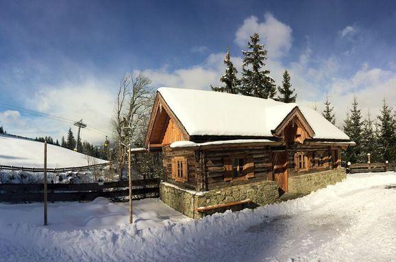 Winter, Oberprenner Zirbenhütte in Haus im Ennstal, Steiermark, Styria , Austria