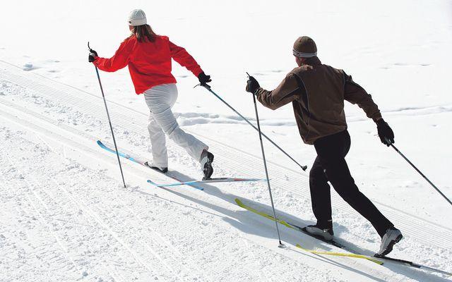 Skilanglaufausrüstung in der BIO Sportpension inbegriffen