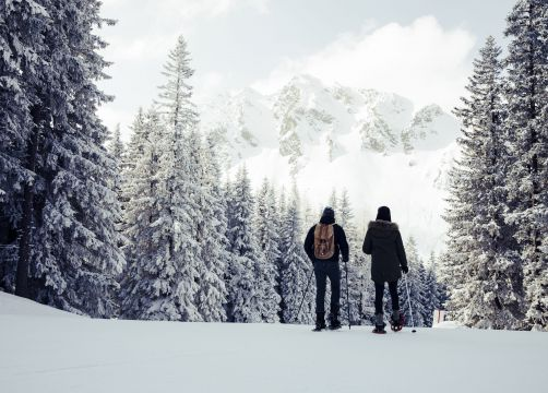 Biohotel Bergzeit: Schneeschuhwandern - Natur- & Biohotel Bergzeit, Zöblen, Tirol, Österreich
