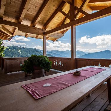 Terrasse, Steinbergalm, Kitzbühel - Oberndorf in Tirol, Tirol, Tirol, Österreich