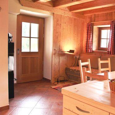 Wohnstube, Costetoi Hütte in San Pietro di Cadore, Südtirol, Trentino-Südtirol, Italien