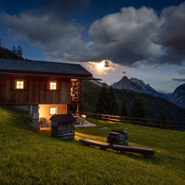 Summer, Costetoi Hütte in San Pietro di Cadore, Südtirol, Alto Adige, Italy