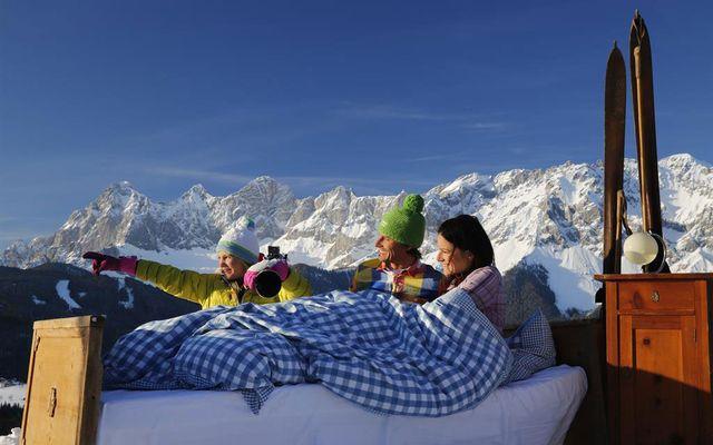 Aufwachen Skifahren