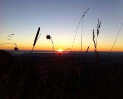 Biohotel Schratt: Sonnenuntergang - Berghüs Schratt, Oberstaufen-Steibis, Allgäu, Bayern, Deutschland