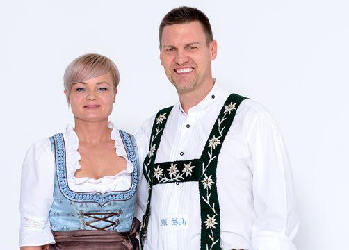 Biohotel Schratt: Gastgeber Bianca und Markus Schratt - Berghüs Schratt, Oberstaufen-Steibis, Allgäu, Bayern, Deutschland