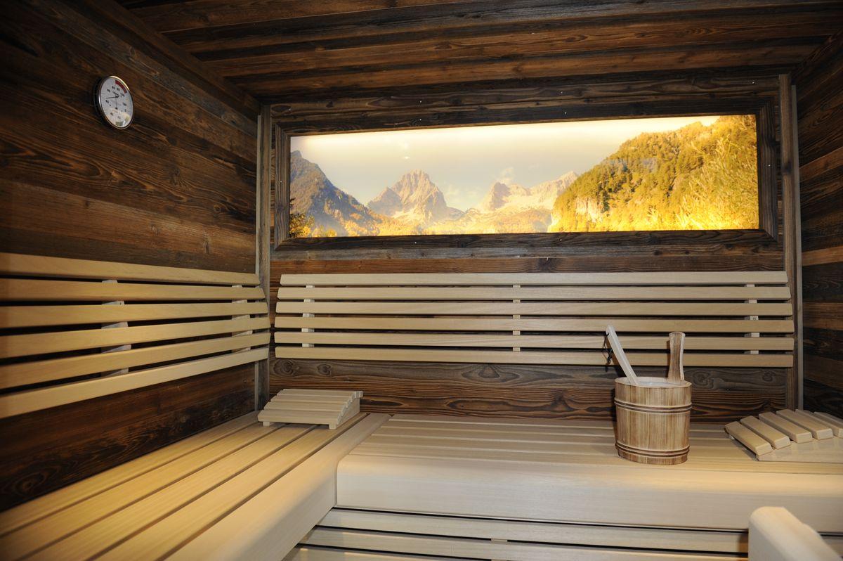 Chalet Rustika - Wellnessbereich mit Sauna