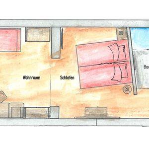 Doppelzimmer Sonnblick Grundriss