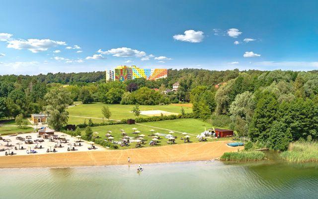 Ahorn Seehotel Templin Außenansicht Sommer Strand