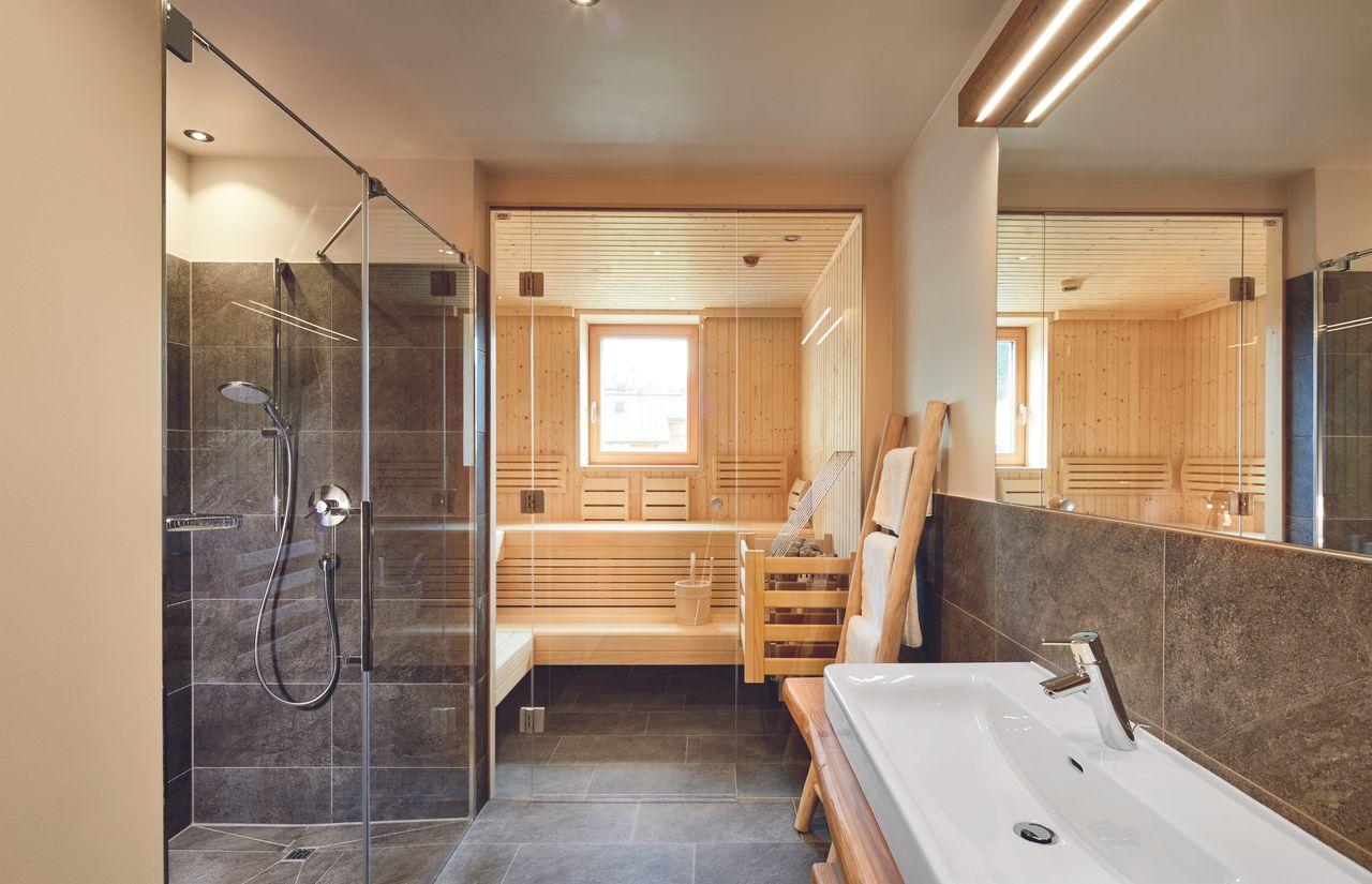 Finnische Sauna im Appartement
