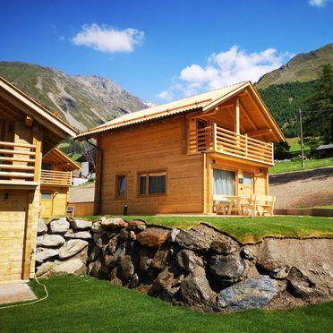 Sommer, Chalets Lagaun, Schnalstal, Südtirol, Trentino-Südtirol, Italien