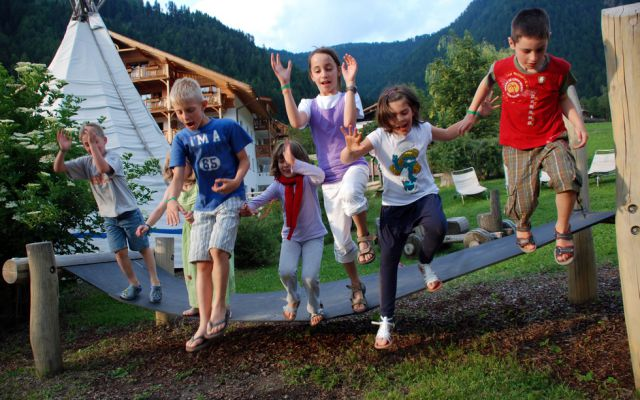Kinderhotel Sonnwies in Lüsen