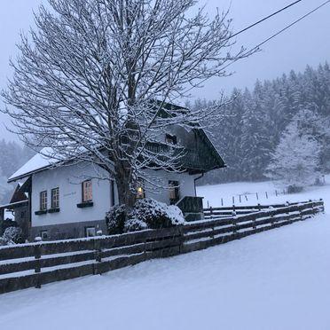 Winter, Kramasuri Hütte, Haus im Ennstal, Steiermark, Steiermark, Österreich