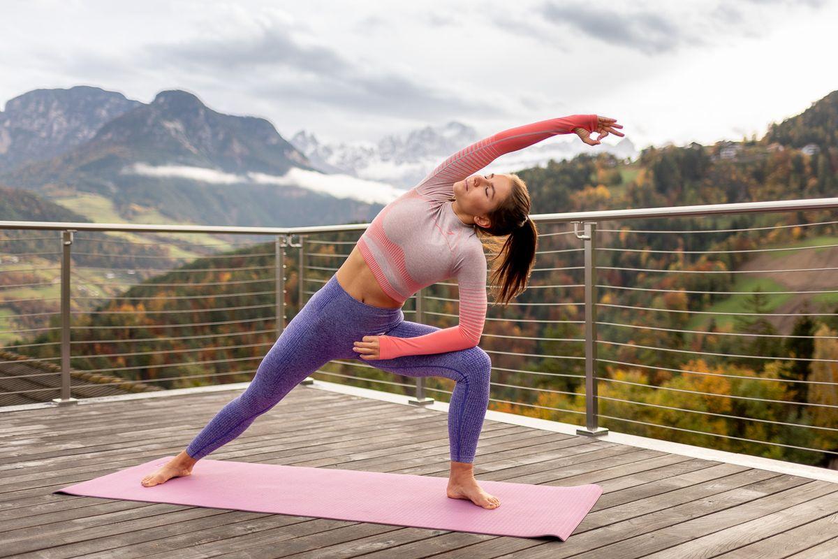 Yoga und Mountainbike