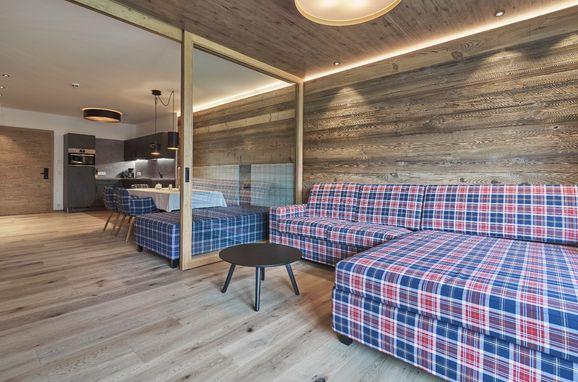 Küche und Wohnbereich, Appartement Mont Blanc in Sölden, Tirol, Tirol, Österreich