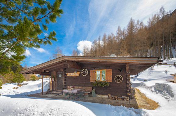 Winter, Bergkristall Hütte, St. Sigmund im Sellrain, Tirol, Tirol, Österreich
