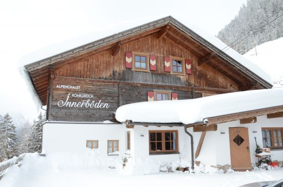 Winter, Alpenchalet Königreich Innerböden in Ginzling-Mayrhofen, Tirol, Tirol, Österreich