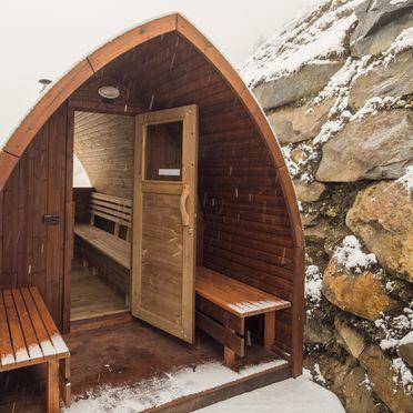 Saunahäuschen, Alpenhoamatl in Ginzling-Mayrhofen, Tirol, Tirol, Österreich