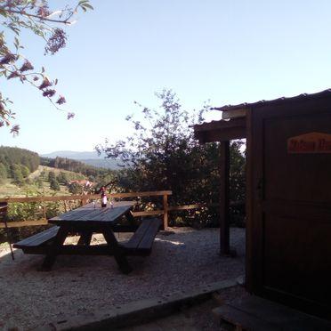 Sommer, Holzfäller Hütte in La Rosiere - Vogesen, Vogesen, Elsass, Frankreich