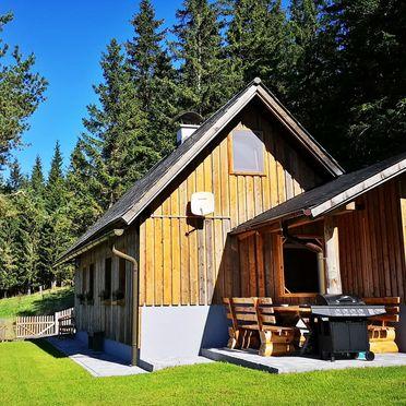 Terrasse, Almhaus Herzstück in Preitenegg, Lavanttal, Kärnten, Österreich