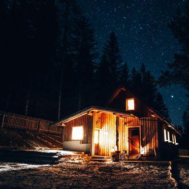 Winter, Almhaus Herzstück in Preitenegg, Lavanttal, Kärnten, Österreich