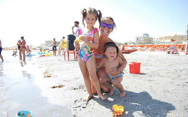 Strand des Familienhotels