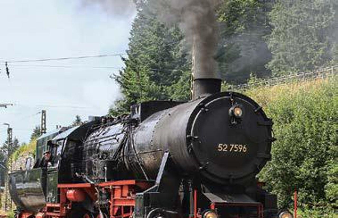 Historischer Dampfzug - zwischen Titisee und Schluchsee-Seebrugg