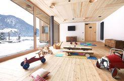 Biohotel Blaslahof: Kinderspielzimmer - Blasla Hof, Gsies, Südtirol, Trentino-Südtirol, Italien
