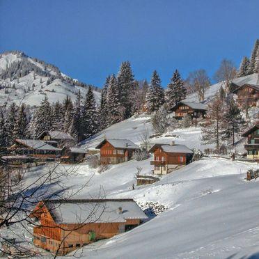 Außen Winter 13, Chalet Jungfrau an der Ledi, Wengen, Berner Oberland, Bern, Schweiz
