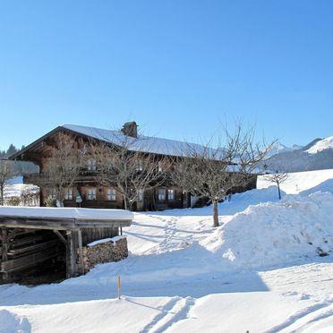 Außen Winter 18, Ferienhütte Marianne in Oberbayern, Reit im Winkl, Oberbayern, Bayern, Deutschland