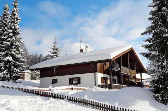 Außen Winter 22 - Hauptbild, Chalet Mühlberg im Bayerischen Wald, Spiegelau, Bayerischer Wald, Bayern, Deutschland