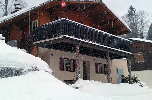 """Außen Winter 24 - Hauptbild, Ferienchalet """"Im Gus"""", Oberterzen, Ostschweiz, St. Gallen, Schweiz"""