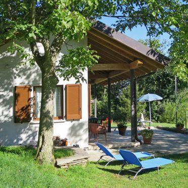 Außen Sommer 2, Chalet Baita Checc, Cannero Riviera, Lago Maggiore, Piemont, Italien
