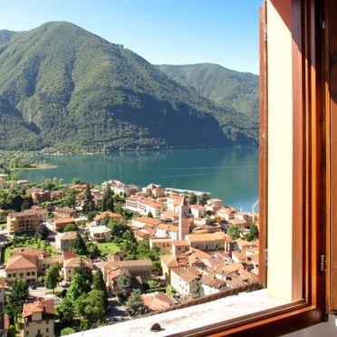 Außen Sommer 4, Ferienhaus Ca' Rossa, Porlezza, Luganer See, Lombardei, Italien