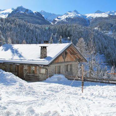 Außen Winter 32, Chalet Baita El Deroch, Predazzo, Fleimstal, Trentino-Südtirol, Italien