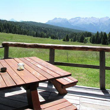 Außen Sommer 3, Chalet Baita Medil, Moena, Dolomiten, Trentino-Südtirol, Italien