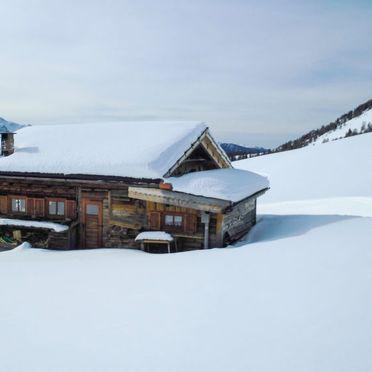 Außen Winter 25, Chalet Baita Medil, Moena, Dolomiten, Trentino-Südtirol, Italien