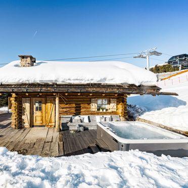 Außen Winter 28, Chalet Lusia, Moena, Fassa Valley, Trentino-Südtirol, Italien
