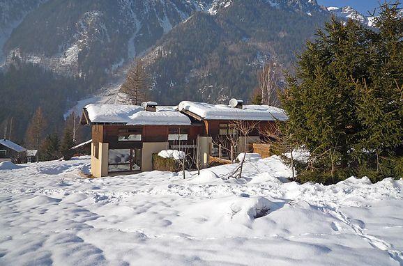 Außen Winter 18, Chalet les Pelarnys, Chamonix, Savoyen - Hochsavoyen, Auvergne-Rhône-Alpes, Frankreich