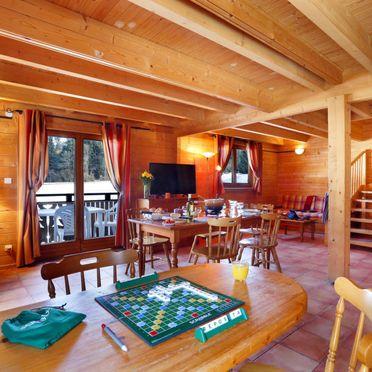Innen Sommer 3, Chalet bois de Champelle, Morillon, Savoyen - Hochsavoyen, Auvergne-Rhône-Alpes, Frankreich