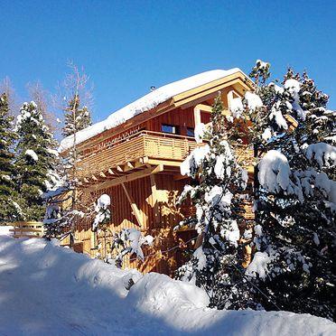 Außen Winter 22, Chalet Zirbe, Turracher Höhe, Steiermark, Steiermark, Österreich