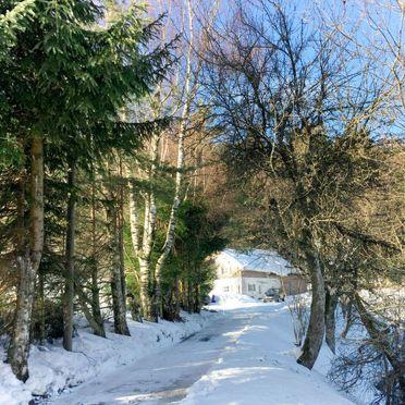 Außen Winter 28, Chalet Gulde, Lallinger Winkel, Bayerischer Wald, Bayern, Deutschland