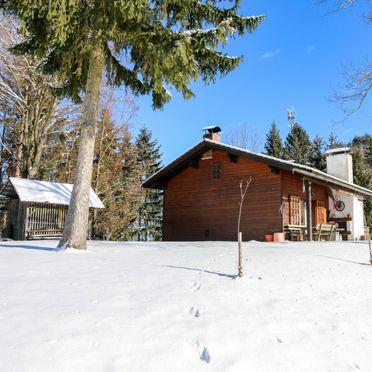 Außen Winter 33, Hütte Rustika am Wörthersee, Klagenfurt am Wörthersee, Kärnten, Kärnten, Österreich