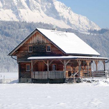 Außen Winter 17, Blockhütte Steiner, Stein an der Enns, Steiermark, Steiermark, Österreich