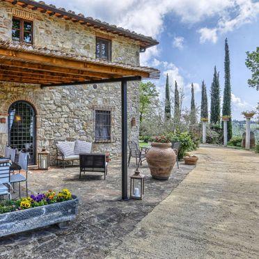 Außen Sommer 2, Villa Casale Il Poggino, Castellina in Chianti, Toskana Chianti, Toskana, Italien