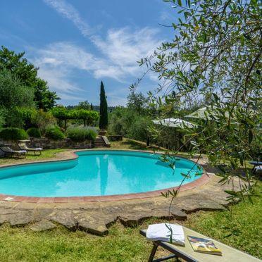 Außen Sommer 2, Villa Cafaggio di Sopra, Florenz, Florenz Stadt und Umgebung, Toskana, Italien