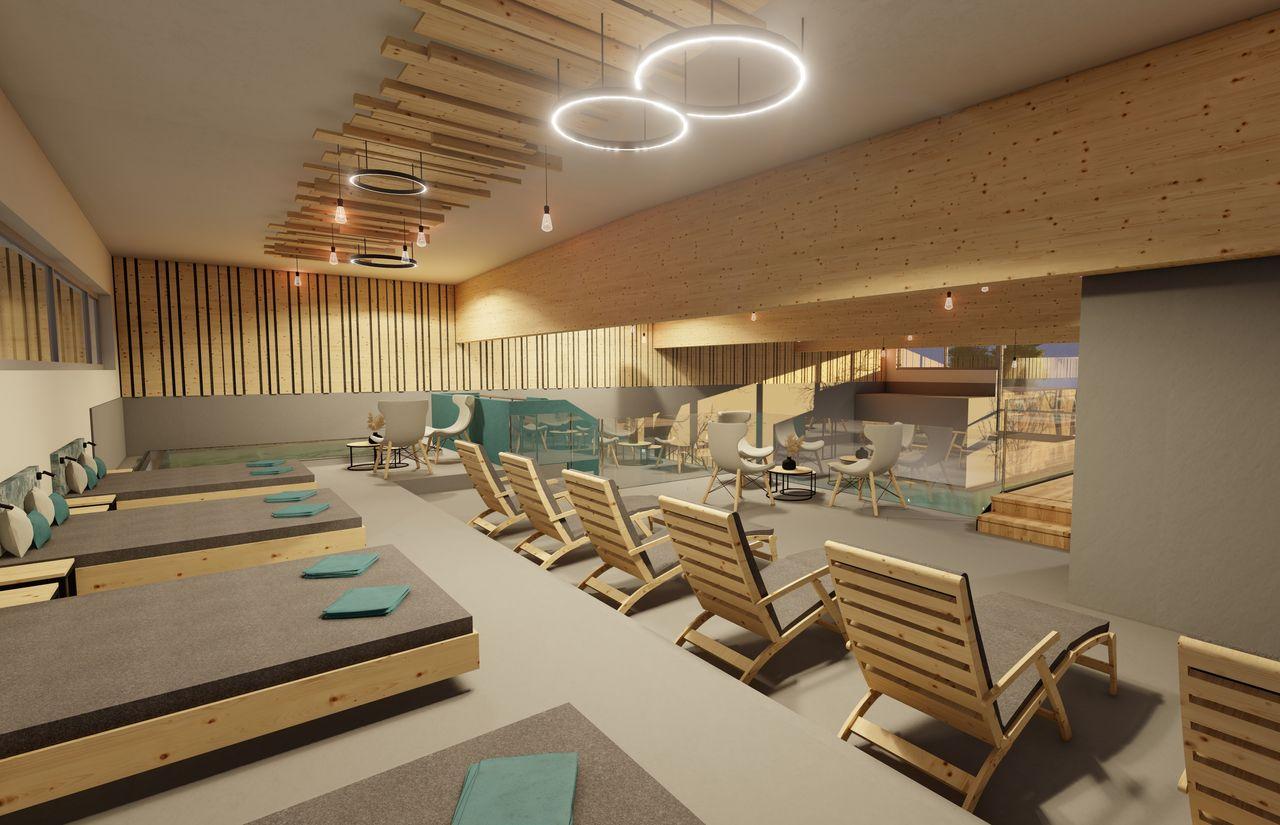 Liegebereich Indoor Pool