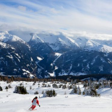 Außen Winter 17, Blockhütte Hüttl, Trins, Tirol, Tirol, Österreich
